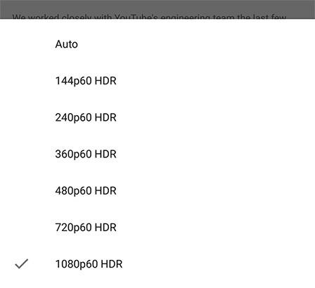 L'applicazione mobile ufficiale di YouTube per Android ora consente di attivare la modalità HDR, ma solo su alcuni dispositivi in particolare