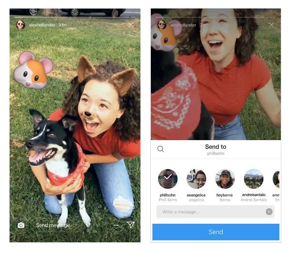 Instagram, le Storie si condividono su Direct
