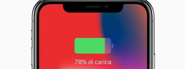 iPhone X, ricarica