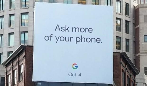 Il cartellone comparso nelle strade di Boston sembra confermare che l'evento per la presentazione di Google Pixel 2 e Google Pixel 2 XL andrà in scena nella giornata del 4 ottobre