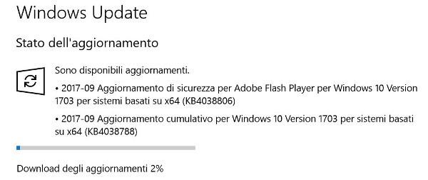 Windows 10, update cumulativo per il Patch Tuesday