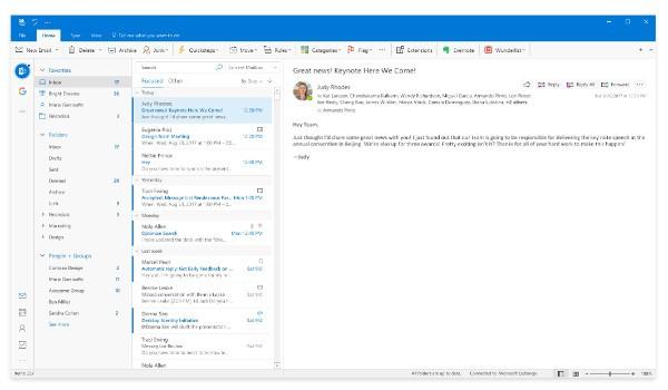 Microsoft lavora ad un nuovo Outlook per PC
