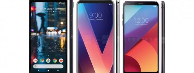 Google Pixel 2 XL - LG V30 - LG G6