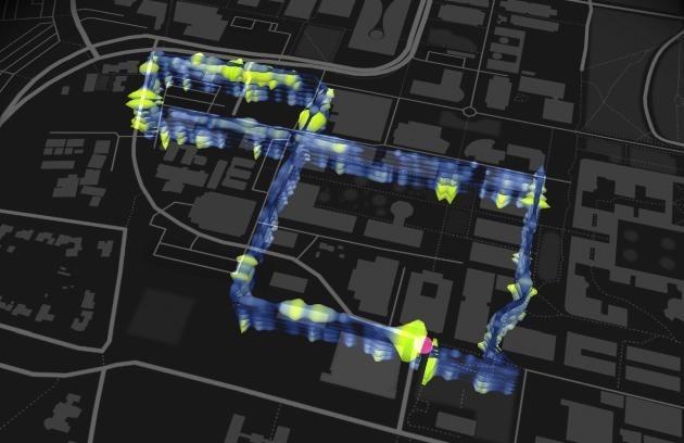 La rete in fibra ottica sotto il campus della Stanford University.