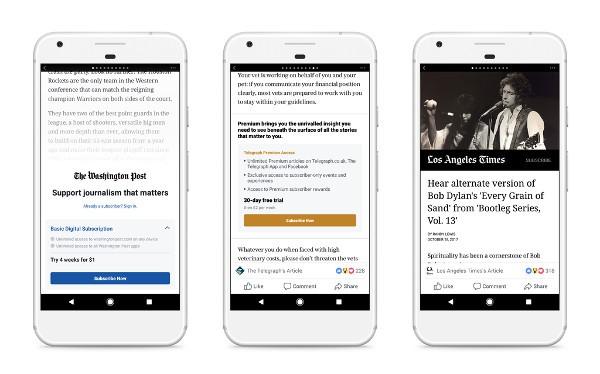 Facebook, le notizie a pagamento in Italia