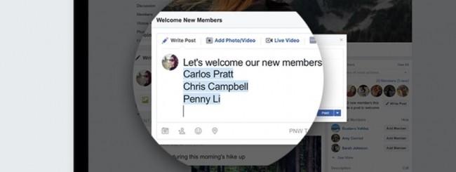 Facebook, nuovi strumenti per i Gruppi