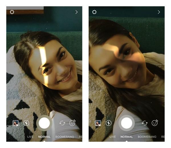 Instagram, filtri per illuminare il viso