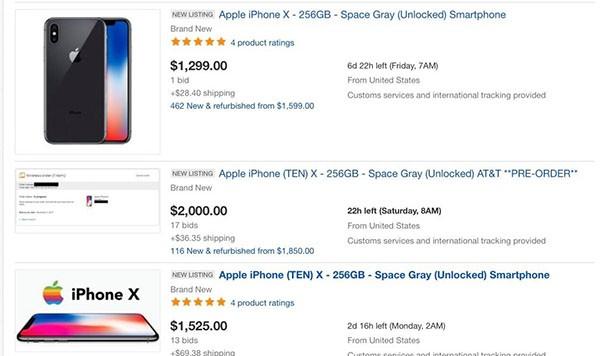 iPhone X su eBay