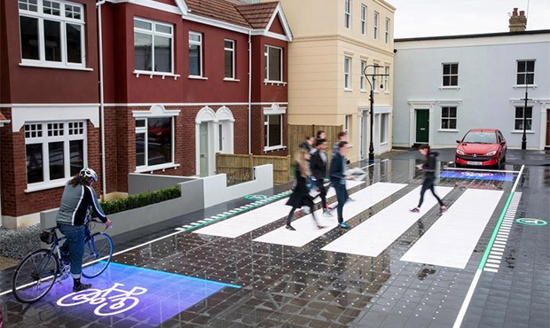 Il manto stradale ricoperto da LED, per aumentare la sicurezza di pedoni, ciclisti e automobilisti