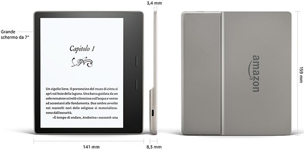 Amazon Kindle Oasis (2017): le dimensioni dell'eBook reader
