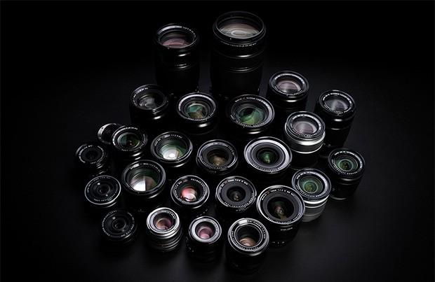 Il parco ottiche della Serie X, compatibile con la fotocamera