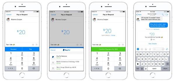 Facebook Messenger, adesso si paga con PayPal