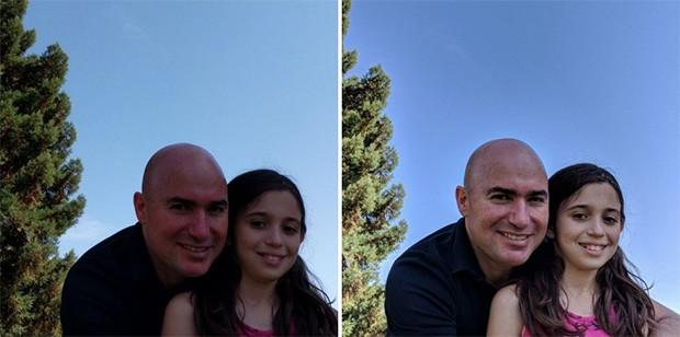 La differenza nella resa della gamma cromatica di una fotografia ottenuta mediante l'impiego della modalità HDR+