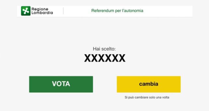 """Voto elettronico, terzo step: confermare la scelta con """"Vota"""" oppure modificarla con """"Cambia"""""""