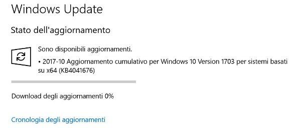 Patch Tuesday, Microsoft aggiorna Windows 10