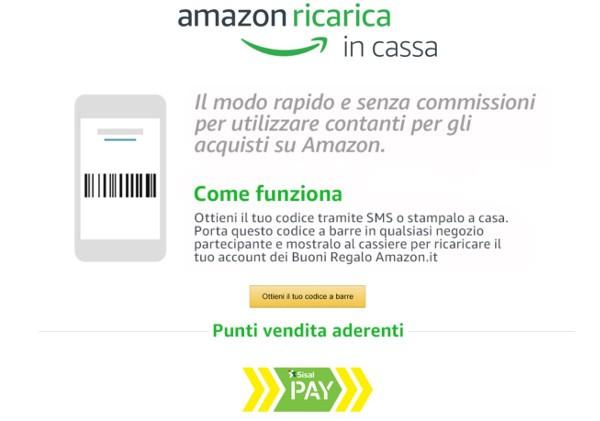 Su Amazon si paga in contanti