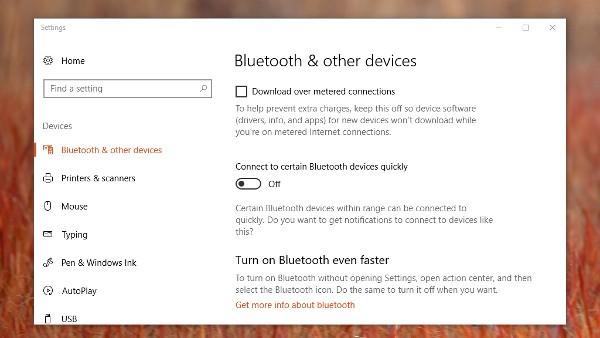 Windows 10, più rapido il pairing con il Bluetooth