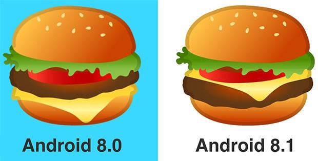 Google ha ridisegnato l'emoji dell'hamburger in Android 8.1 Oreo, come chiesto a gran voce dagli utenti