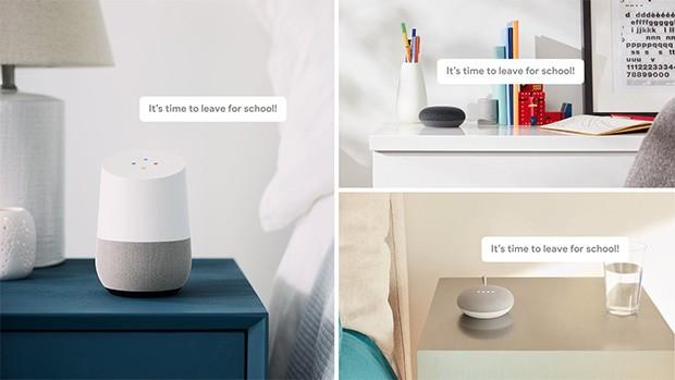 L'Assistente Google è in grado di diffondere messaggi in tutta la casa, sfruttando gli altoparlanti della gamma Home