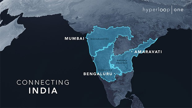 Hyperloop One punta all'India