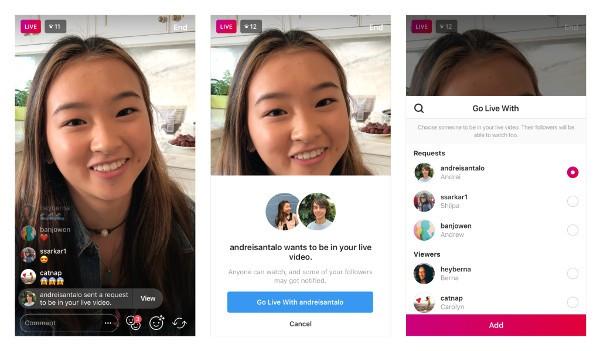 Da ora sarà più semplice invitare amici nelle dirette — Instagram
