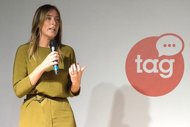 Maria Elena Boschi, Sottosegretaria di Stato alla Presidenza del Consiglio dei Ministri, sul palco del Talent Garden