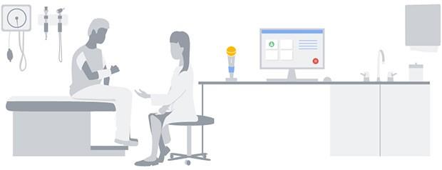 La tecnologia di riconoscimento vocale messa a punto da Google può essere impiegata per trascrivere l'esito delle visite eseguite dal personale medico