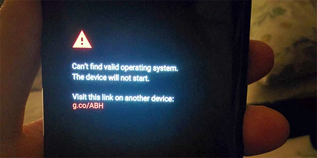 Il Pixel 2 XL senza sistema operativo: il device non può funzionare