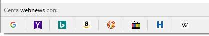 Firefox permette di scegliere il motore di ricerca per la gestione delle query