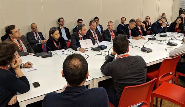 Uno dei tavoli di discussioni organizzati nella prima giornata di Smau Genova
