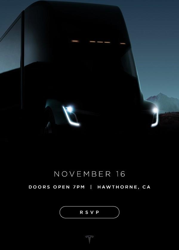 Tesla Truck, presentazione il 16 di novembre