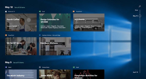 Windows 10, Timeline in arrivo per gli Insider