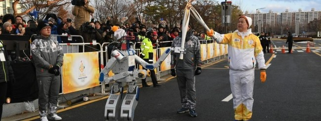 Hubo il robot umanoide diventa tedoforo webnews for Xxiii giochi olimpici invernali di pyeongchang medaglie per paese