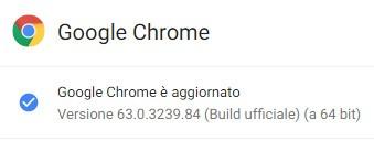 Google ha aggiornato il browser Chrome alla versione 63