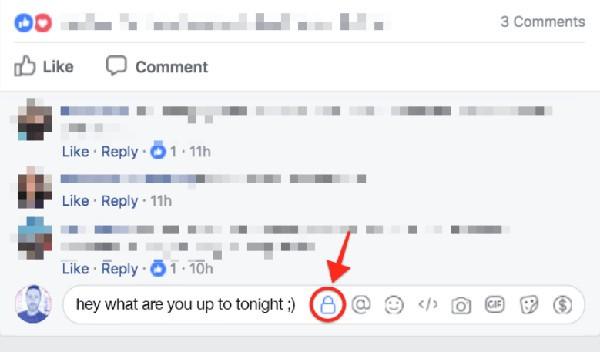 Facebook testa i commenti privati