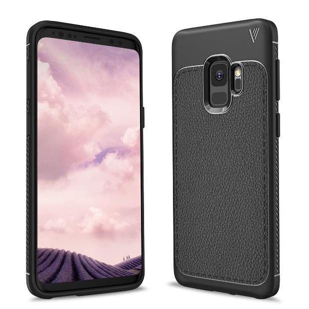 Fronte e retro del presunto Samsung Galaxy S9 con cover