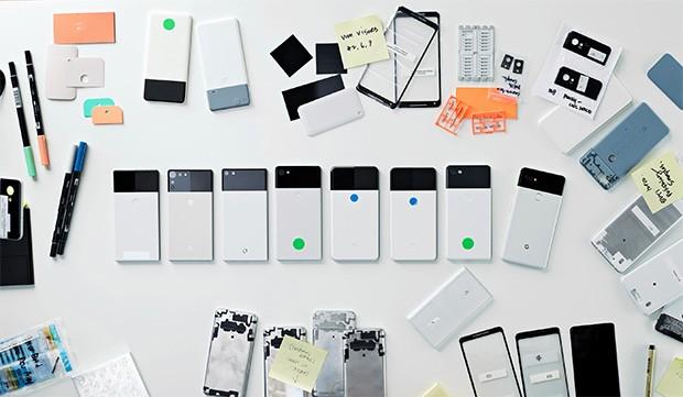 I prototipi dello smartphone Pixel 2 disegnati da Google prima di giungere al look definitivo