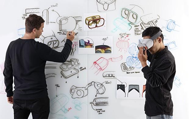 Il visore Daydream View per la realtà virtuale e i tanti design presi in considerazione