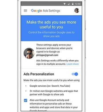 Google offre la possibilità di disattivare gli annunci promemoria, tra le impostazioni del proprio account