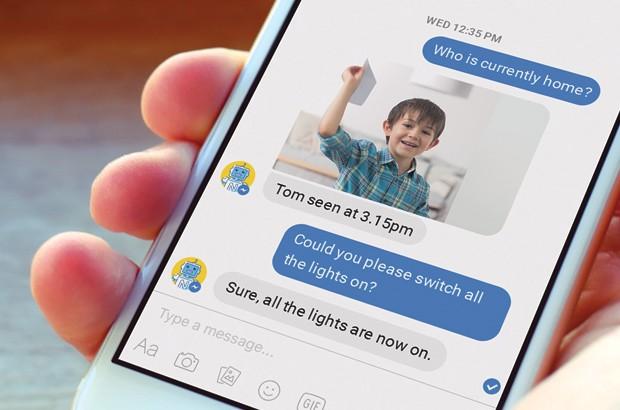 L'applicazione mobile di Netatmo Smart Home Bot per interagire con l'assistente virtuale