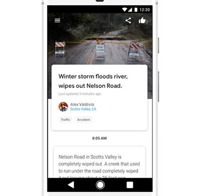 L'interfaccia degli articoli creati e condivisi con Google Bulletin