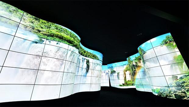 LG OLED Canyon al CES 2018