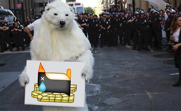 Gli autori delle Climoji suggeriscono l'utilizzo delle immagini nelle manifestazioni contro i cambiamenti climatici