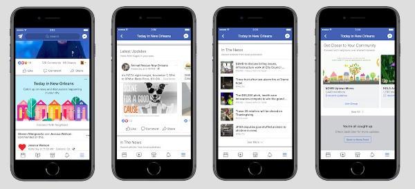 Facebook testa una sezione per le notizie locali