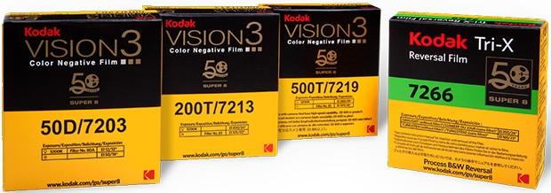 Le pellicole Super 8 prodotte da Kodak