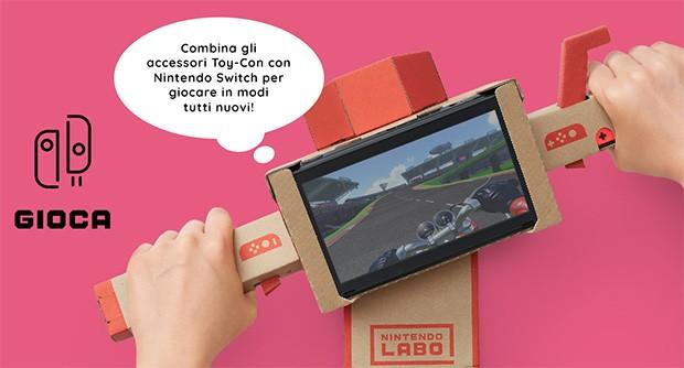 Grazie a Nintendo Labo sarà possibile creare accessori per ampliare le modalità di interazione con i giochi di Switch