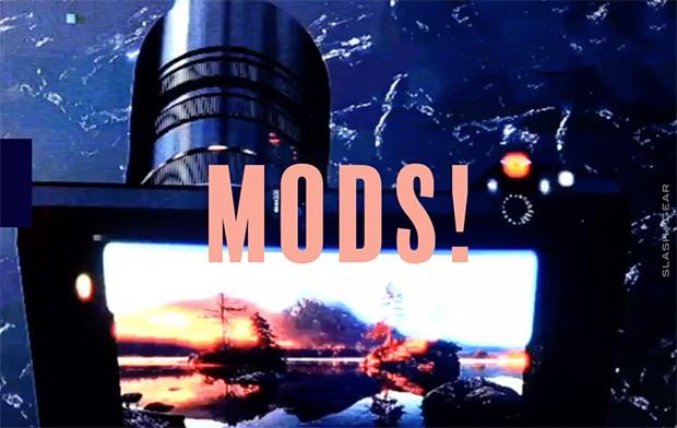 Un'immagine del Moto Mod che dovrebbe rendere compatibile le ottiche di reflex e mirrorless con gli smartphone modulari della serie Moto Z