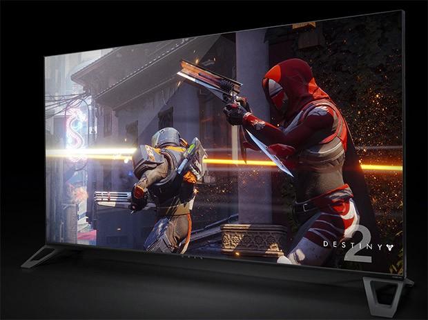 Uno degli schermi BFGD (Big Format Gaming Display) di NVIDIA, con pannello 4K da 65 pollici