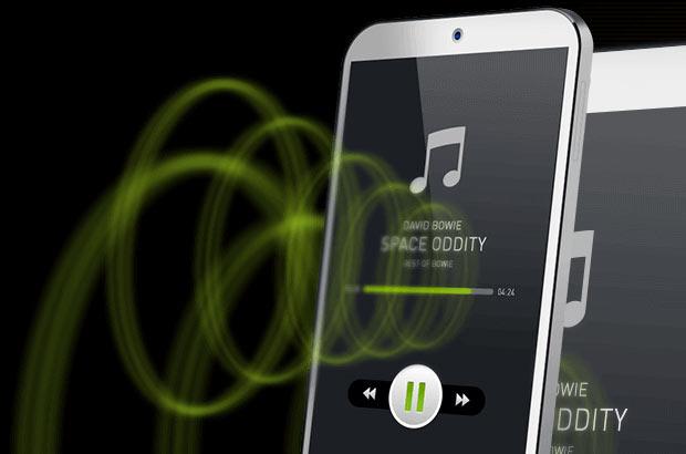 La tecnologia sviluppata da Redux per l'emissione del suono dal display di uno smartphone