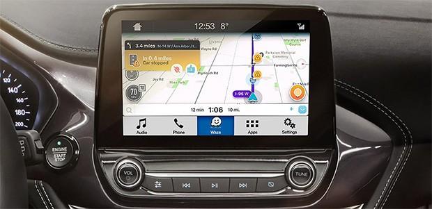 Il navigatore satellitare Waze integrato nel sistema di infotainment SYNC 3 presente a bordo dei veicoli Ford